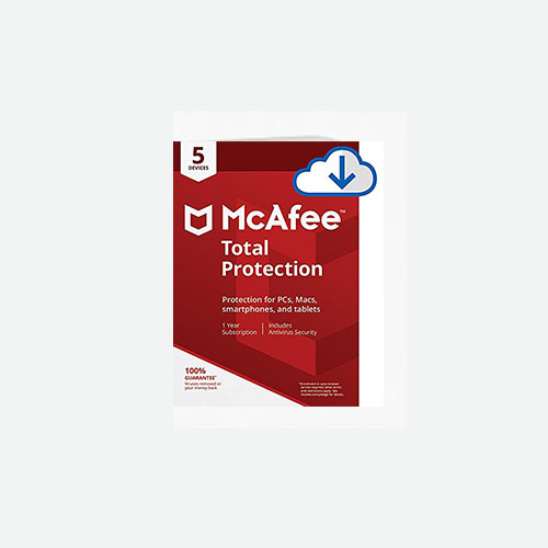 McAfee Total Protection – 5 Devices [Download Code] - 1 Year